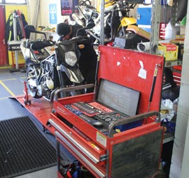Workshop Tools at Clarendon Motorcycles
