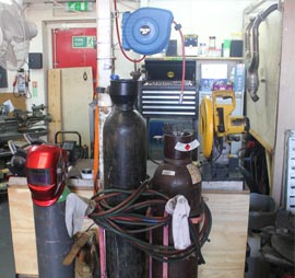 Welding Equipment at Clarendon Motorcycles