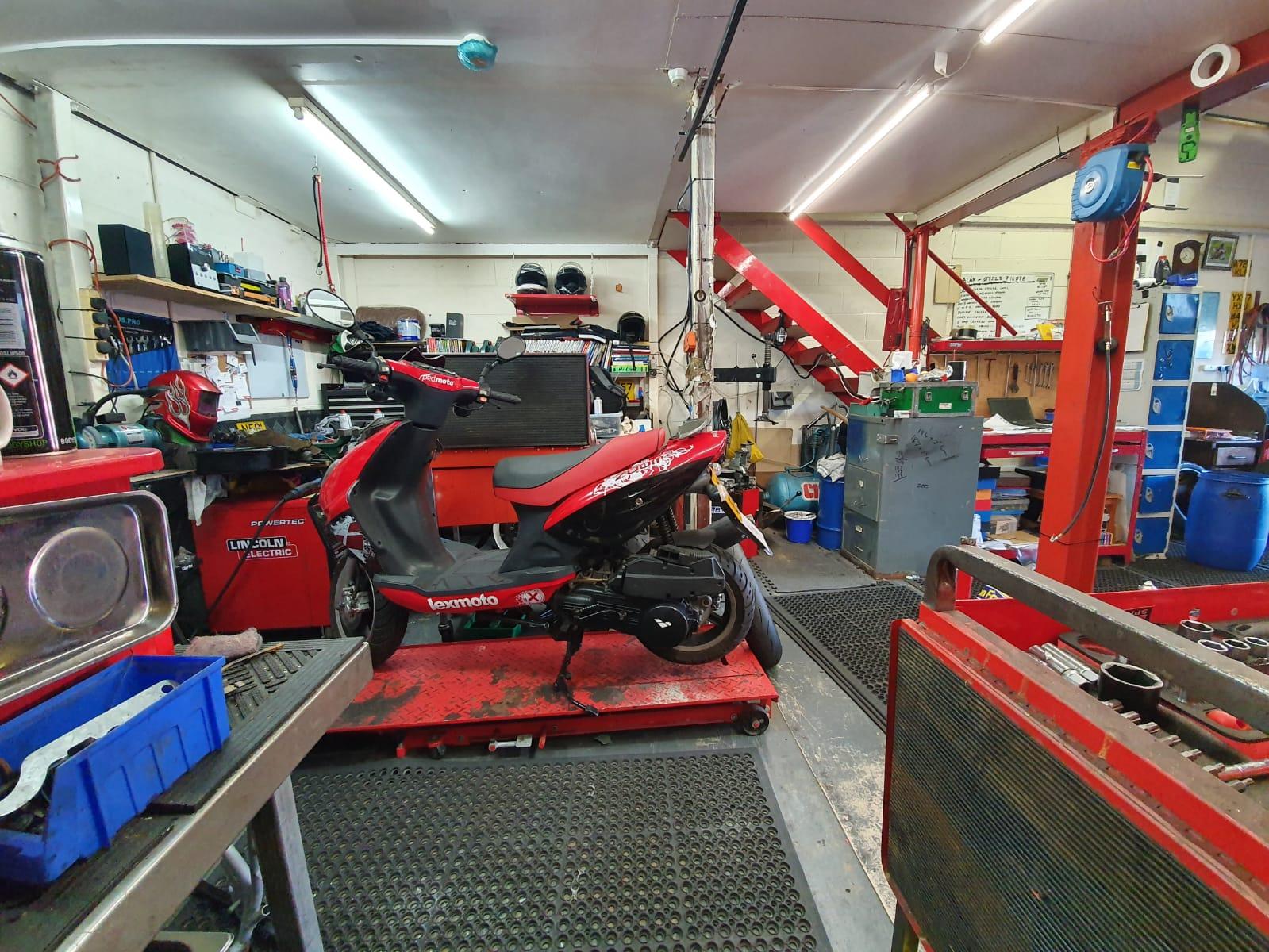 motorbike workshop tools