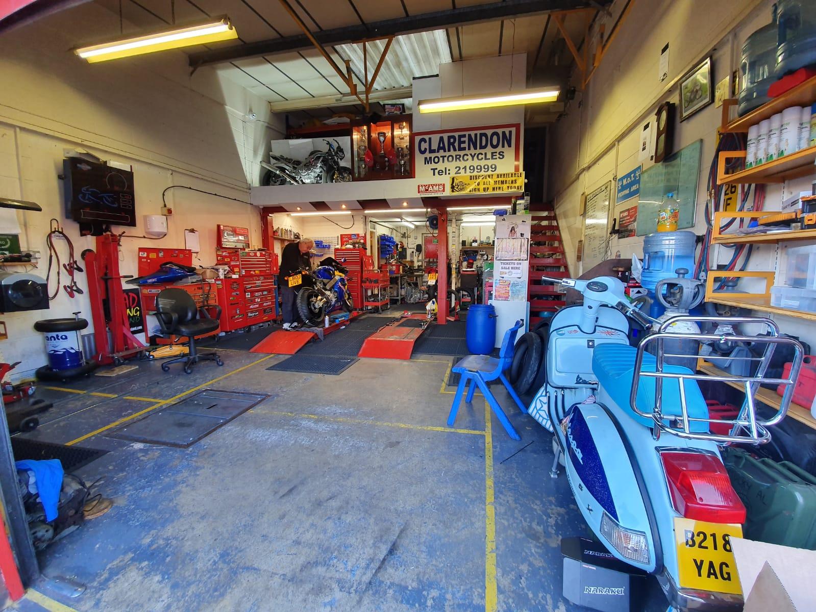 motorbike workshop motorcycle ramp